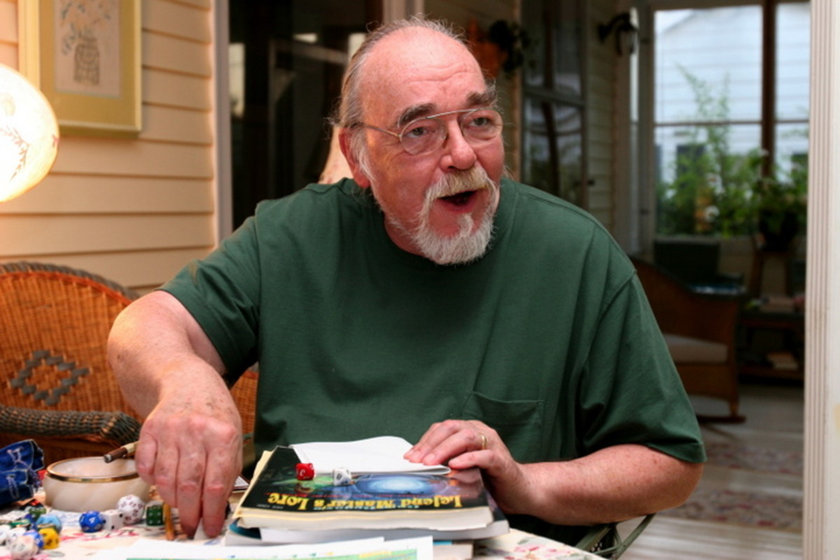 Gary Gygax does what he did best.  Here one can imagine him leading a group of explorers into some devious dungeon populated by wonderful creatures and intellect-bending traps.