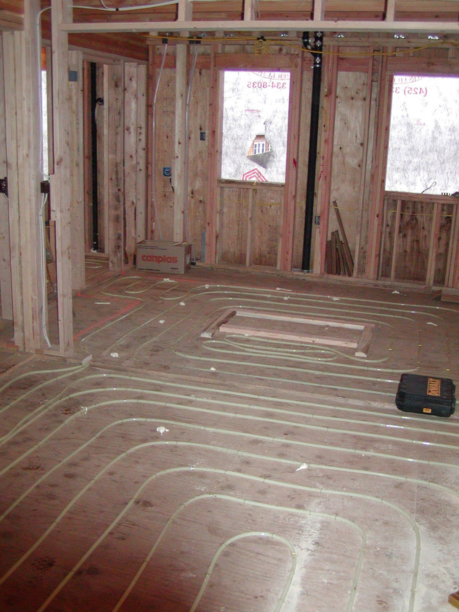 A flexible PEX system is ideal for radiant floor heating. CCL C