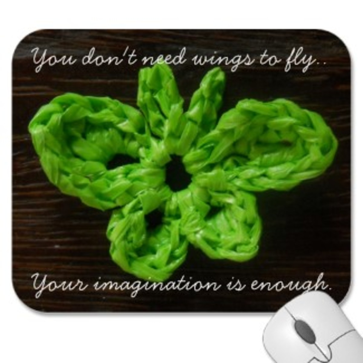 This is my Hofri Butterfly motif. I used its photo to design this mousepad in Zazzle. All the photos in this article are from my Zazzle shop  Moira Crochets Plarn.