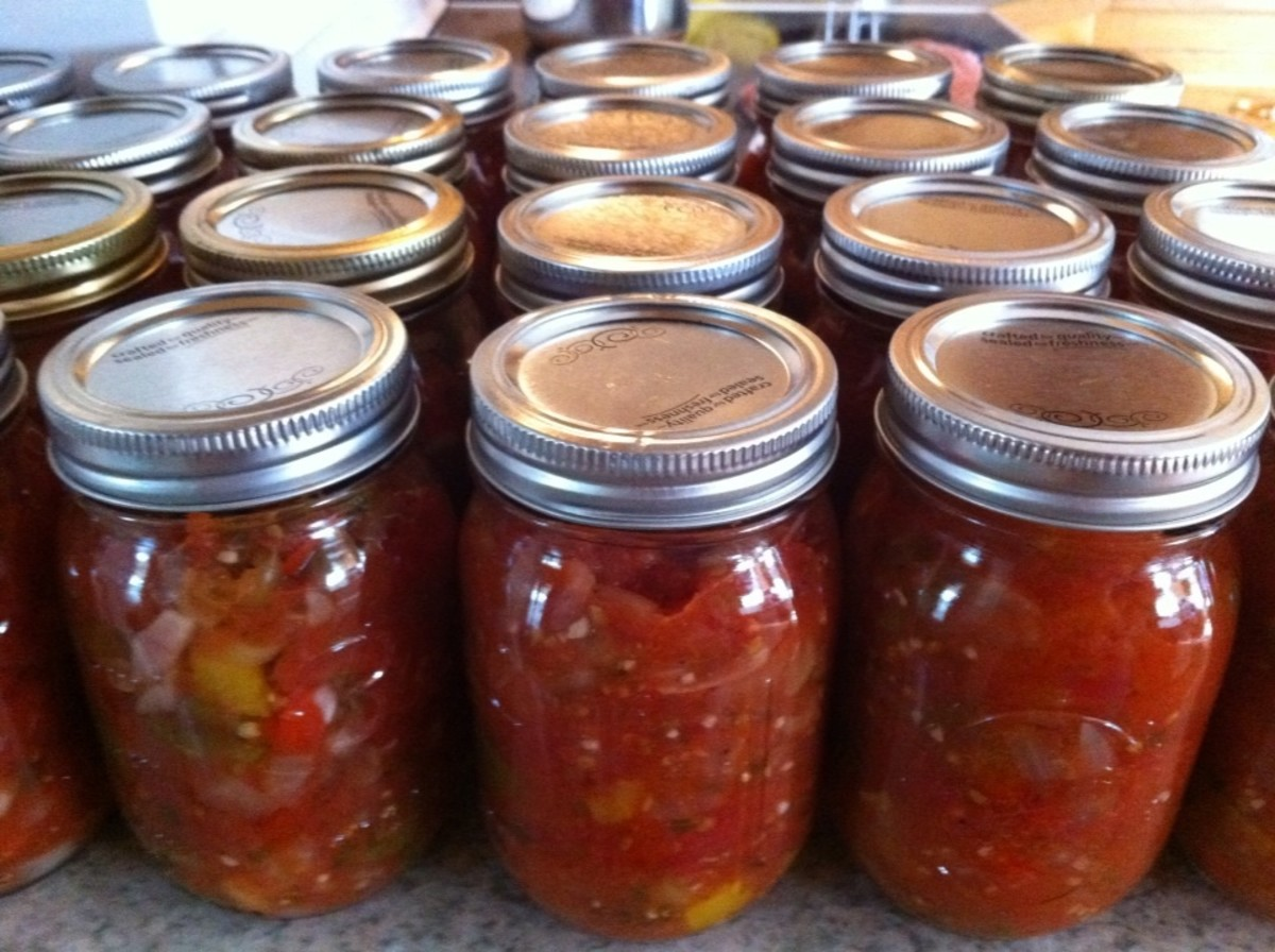 Beautiful Jar Salsa From Scratch