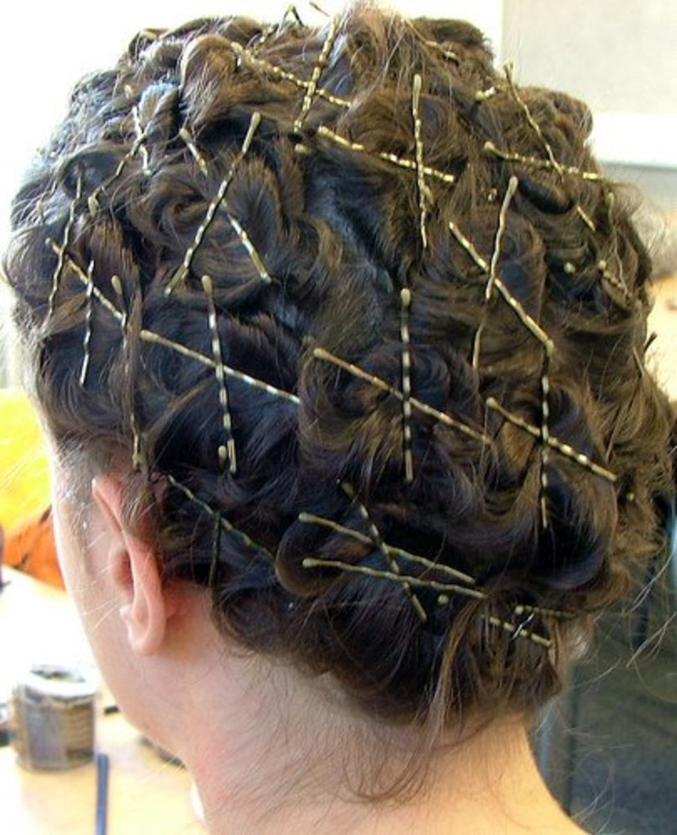 You can achieve curly hair using nothing but bobby pins.