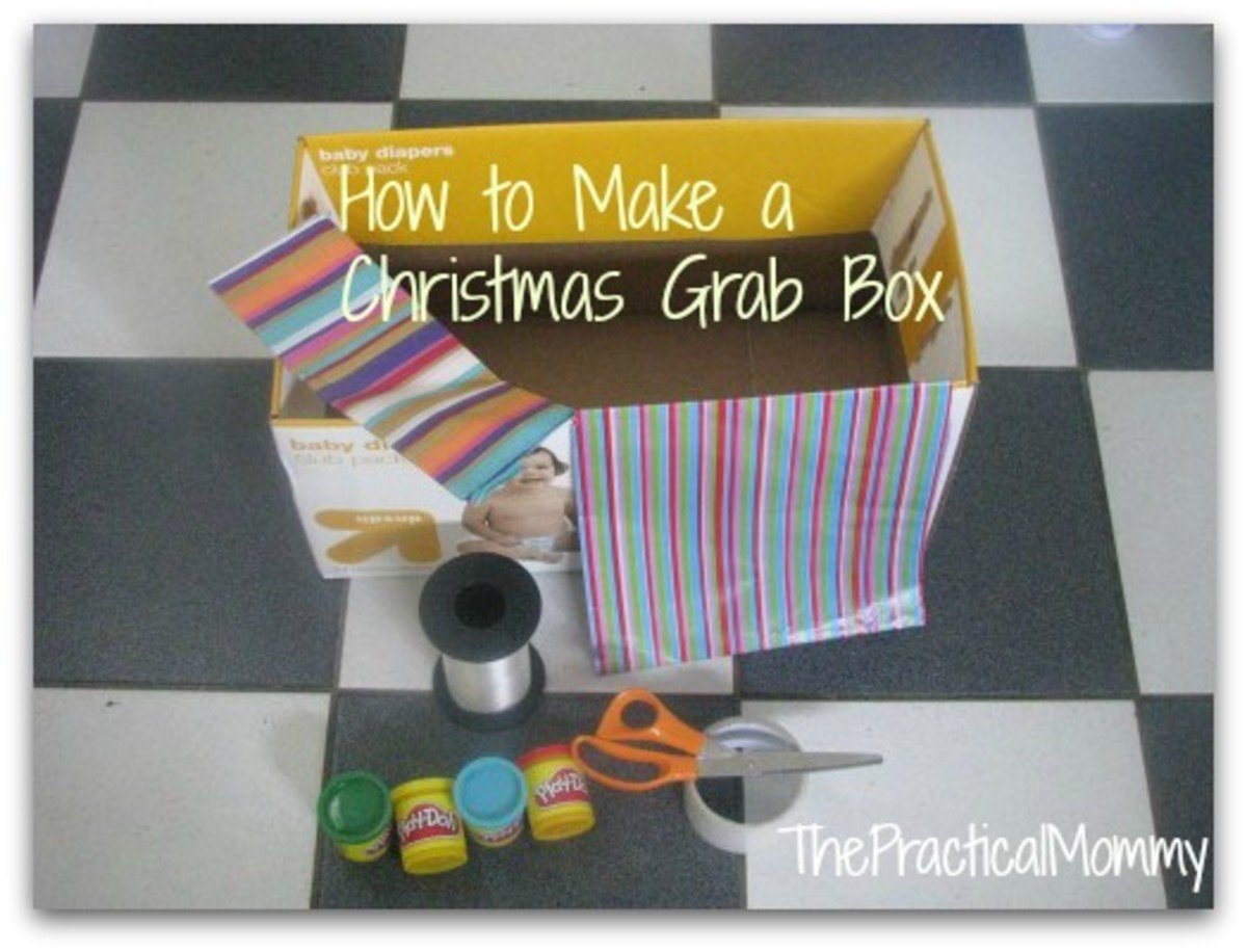Make a  Christmas Grab Box for your next holiday party! Fun for kids and adults.