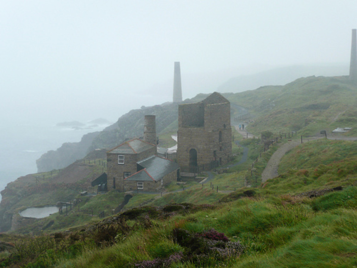 Rainy Day at Levant Mine in Pendeen, Cornwall. Very Poldark!