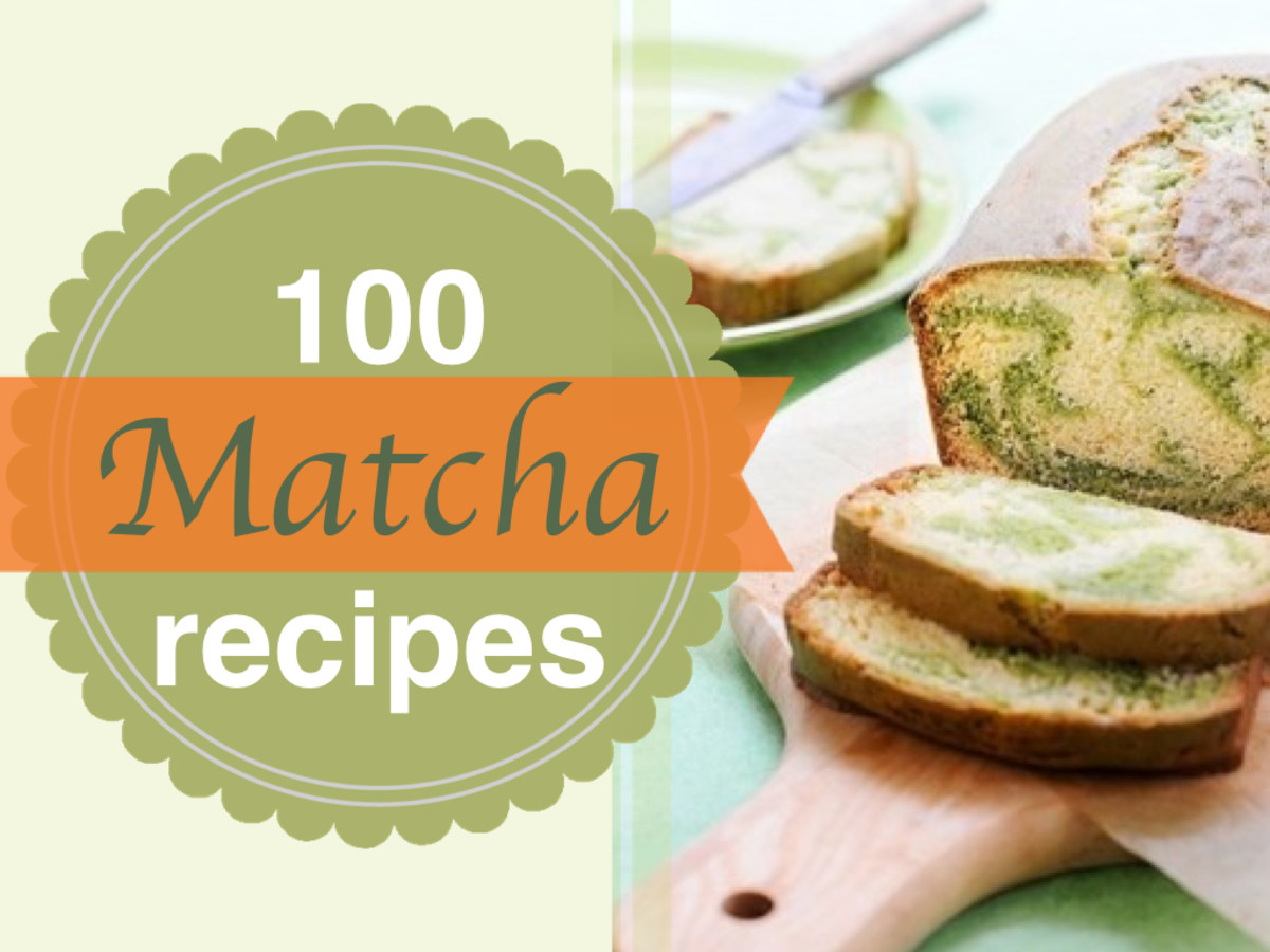 100 matcha recipes! Recipes include everything from matcha eggnog, matcha cookies, matcha smoothies, matcha brownies to matcha martinis!