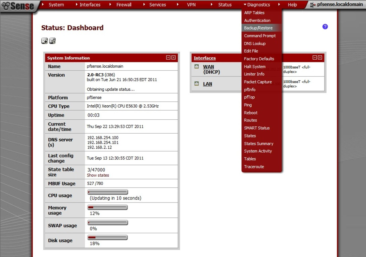 How to Backup and Restore Configurations in pfSense 2.0