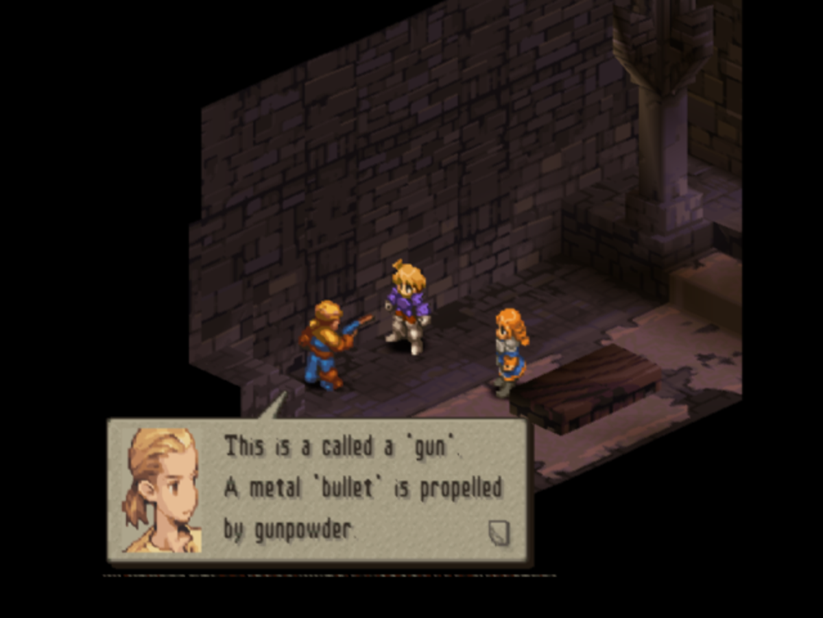 If you didn't think of the magical guns from Final Fantasy Tactics when you read the spellslinger for the first time, you need to go play Final Fantasy Tactics.