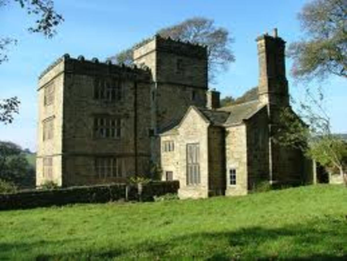This is North Lees Hall, which served as Charlotte Bronte's inspiration for Thornfield Hall