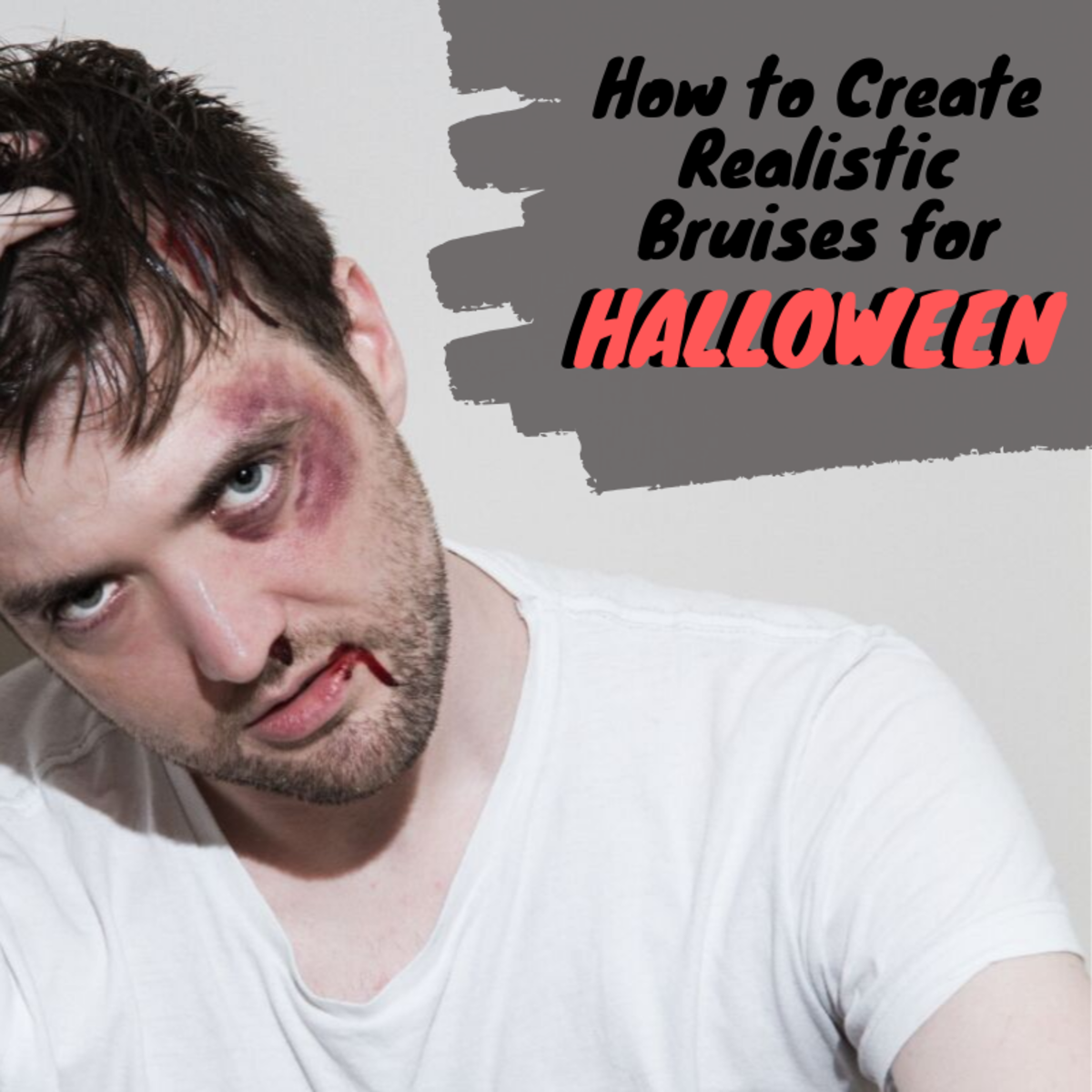 It's easier than you think to create creepily realistic bruise effects using nothing but non-toxic, washable markers.