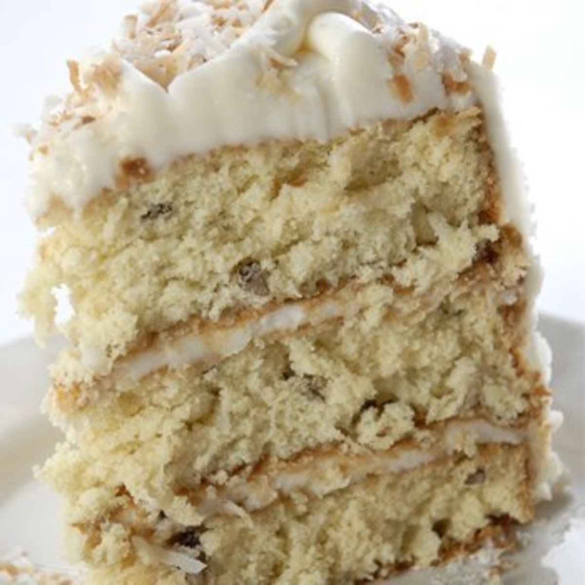 A slice of Italian Cream cake - perfect for birthdays, graduations and other special occasions