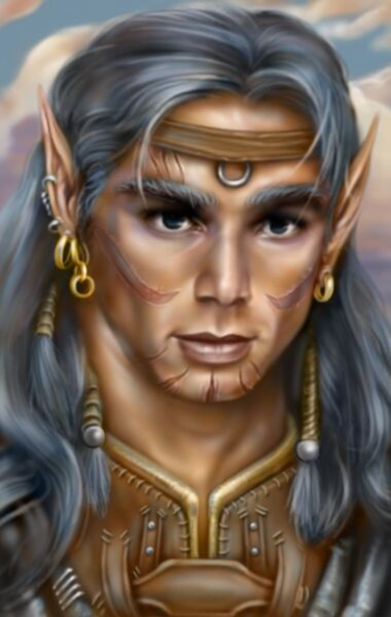 I don't know who they thought they were fooling with this Haer'Dalis artwork from BGII. He's definitely far more of an elf than he is a tiefling. He also always died way too much on me.