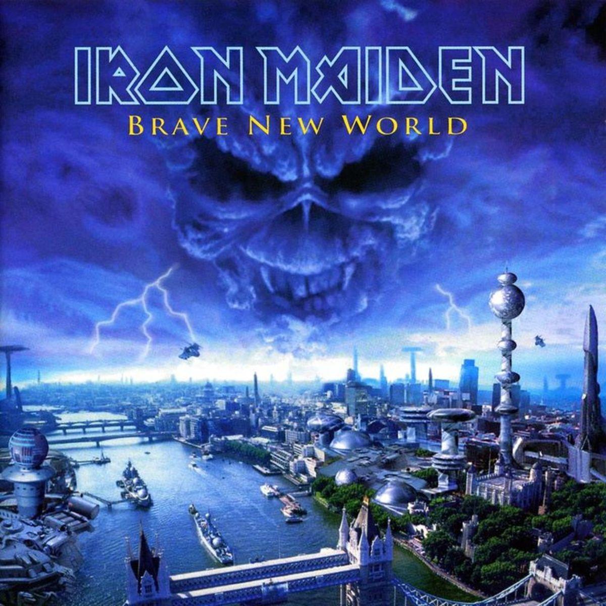 """Brave New World"" album cover (art by Derek Riggs)"
