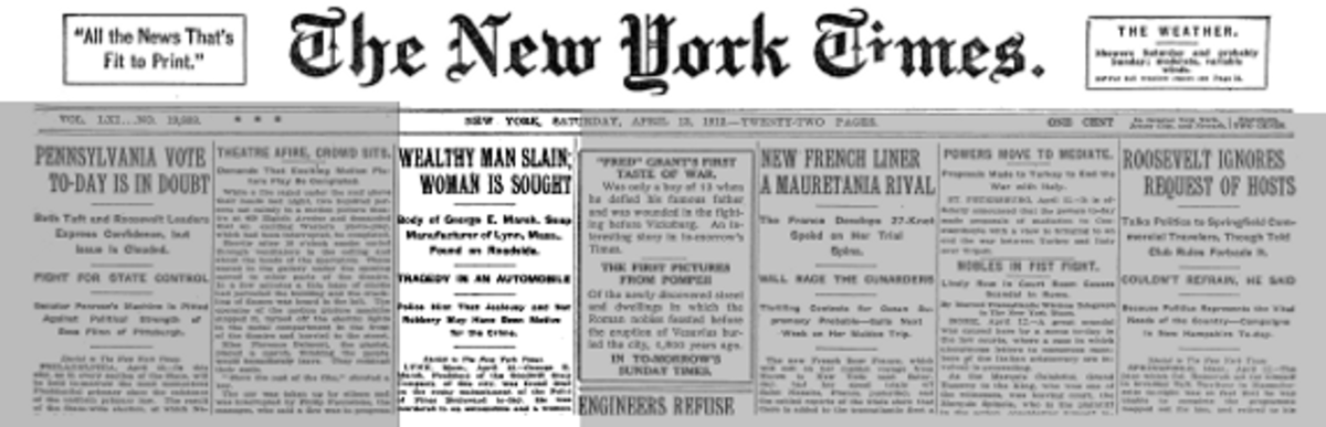 Marsh's murder was headline news