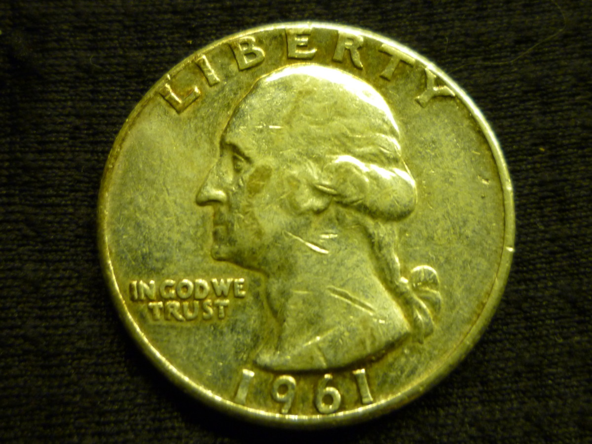 This 1961 Silver composed quarter is worth $7.28 in melt value.