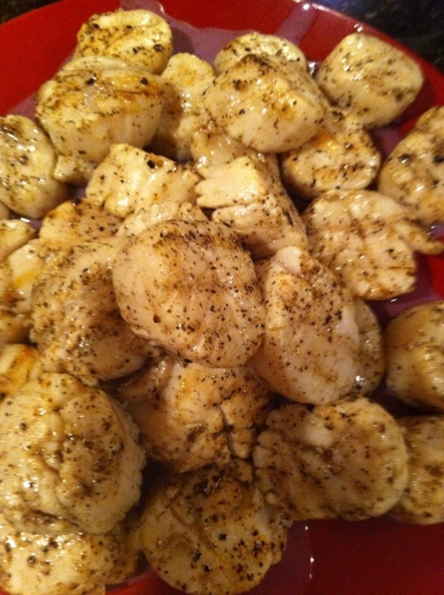 These grilled sea scallops are delicious and easy to prepare.