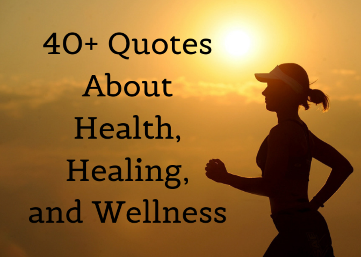Read some inspirational and funny quotes related to health and well-being.