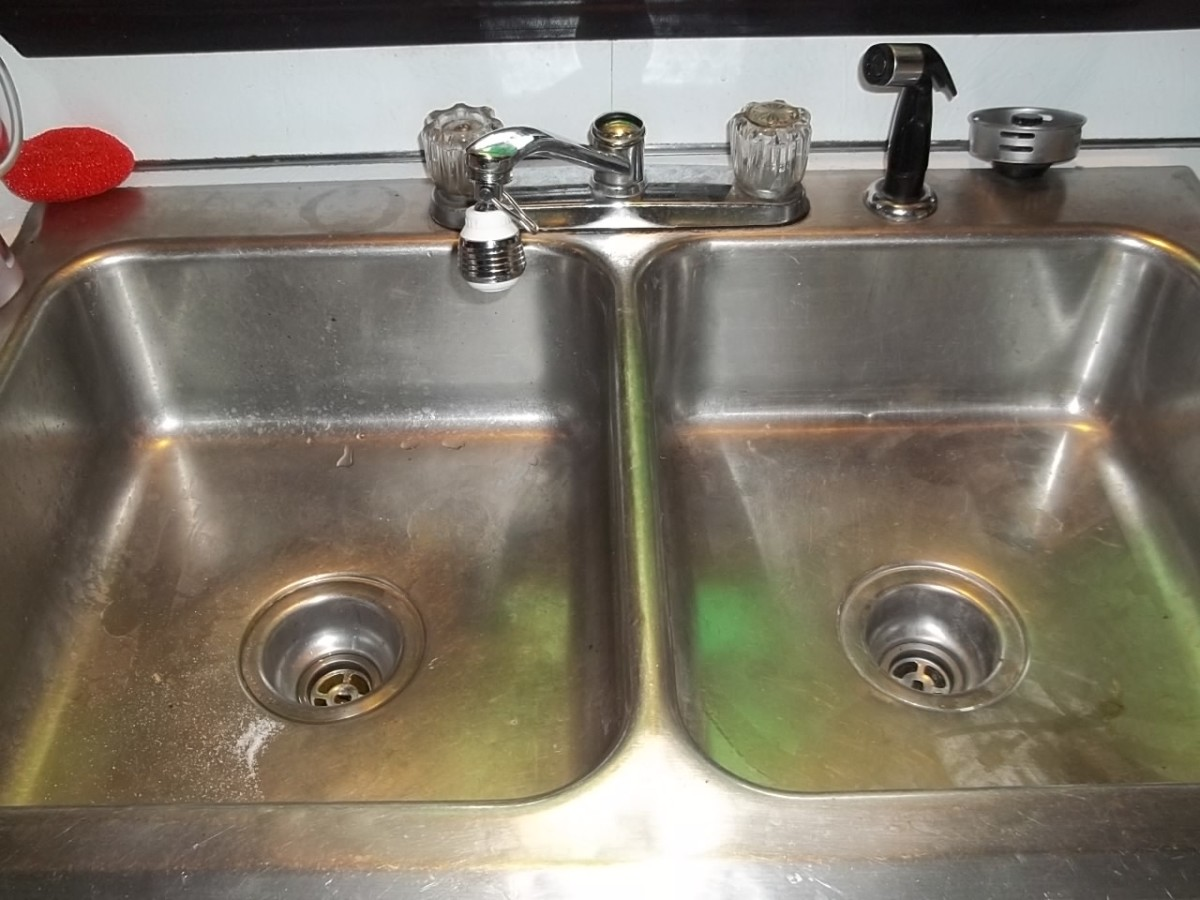 My double kitchen sink.