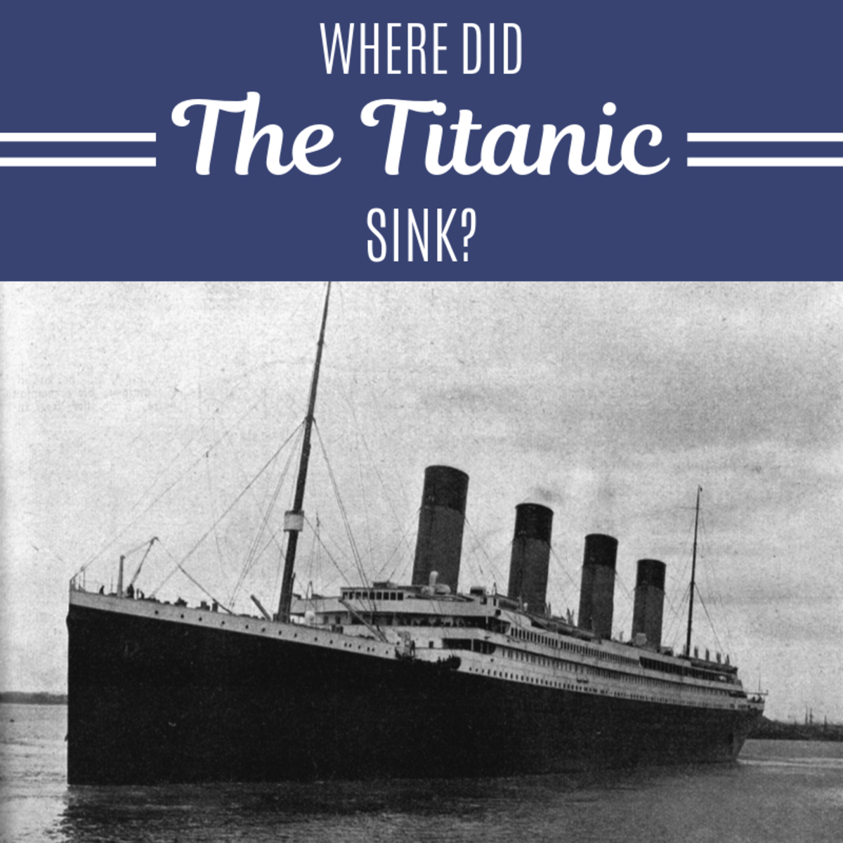 """On April 15th, 1912, """"the ship of dreams"""" collided with an iceberg and sank. This resulted in over 1,500 crew and passenger deaths."""