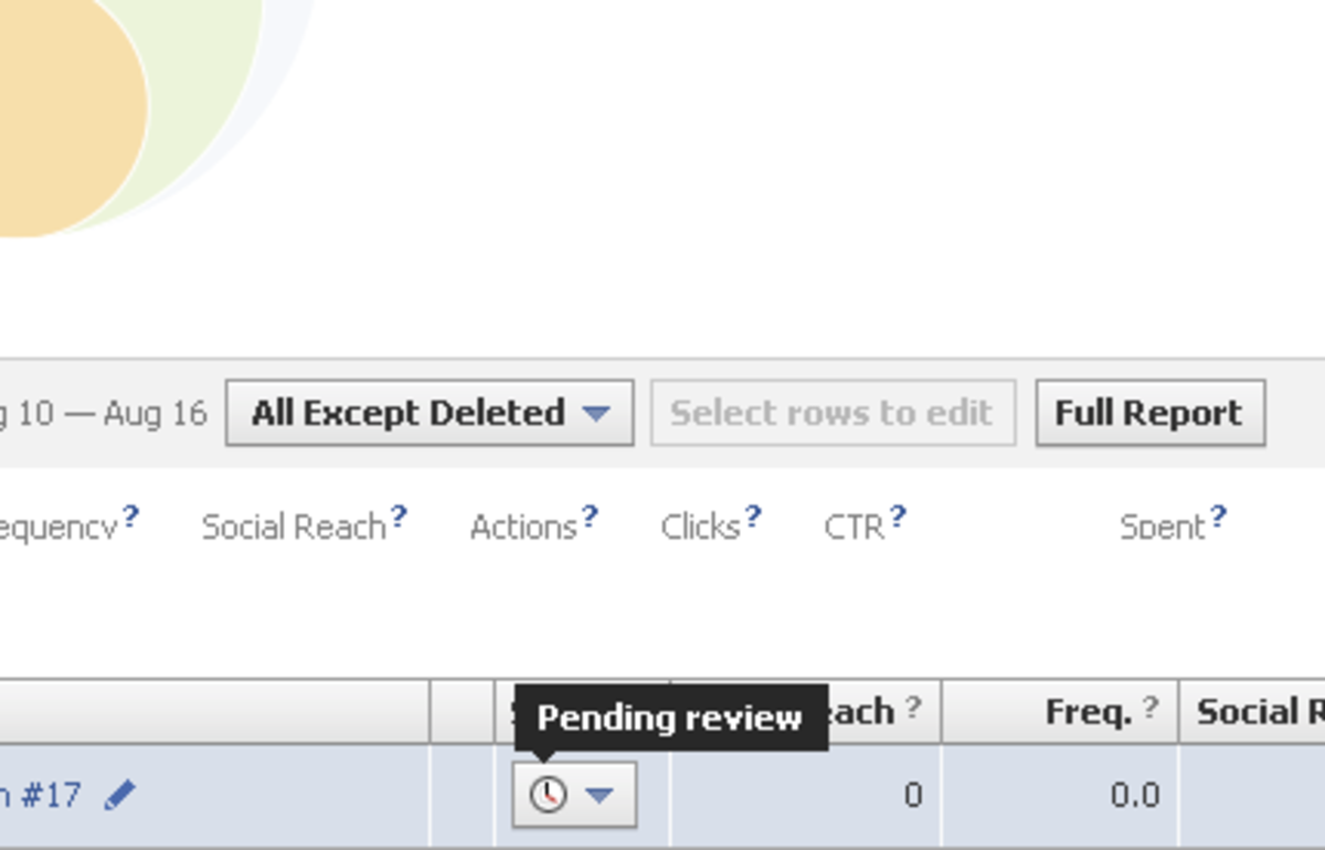 "Solution: Facebook Ads ""Still Pending Review"""