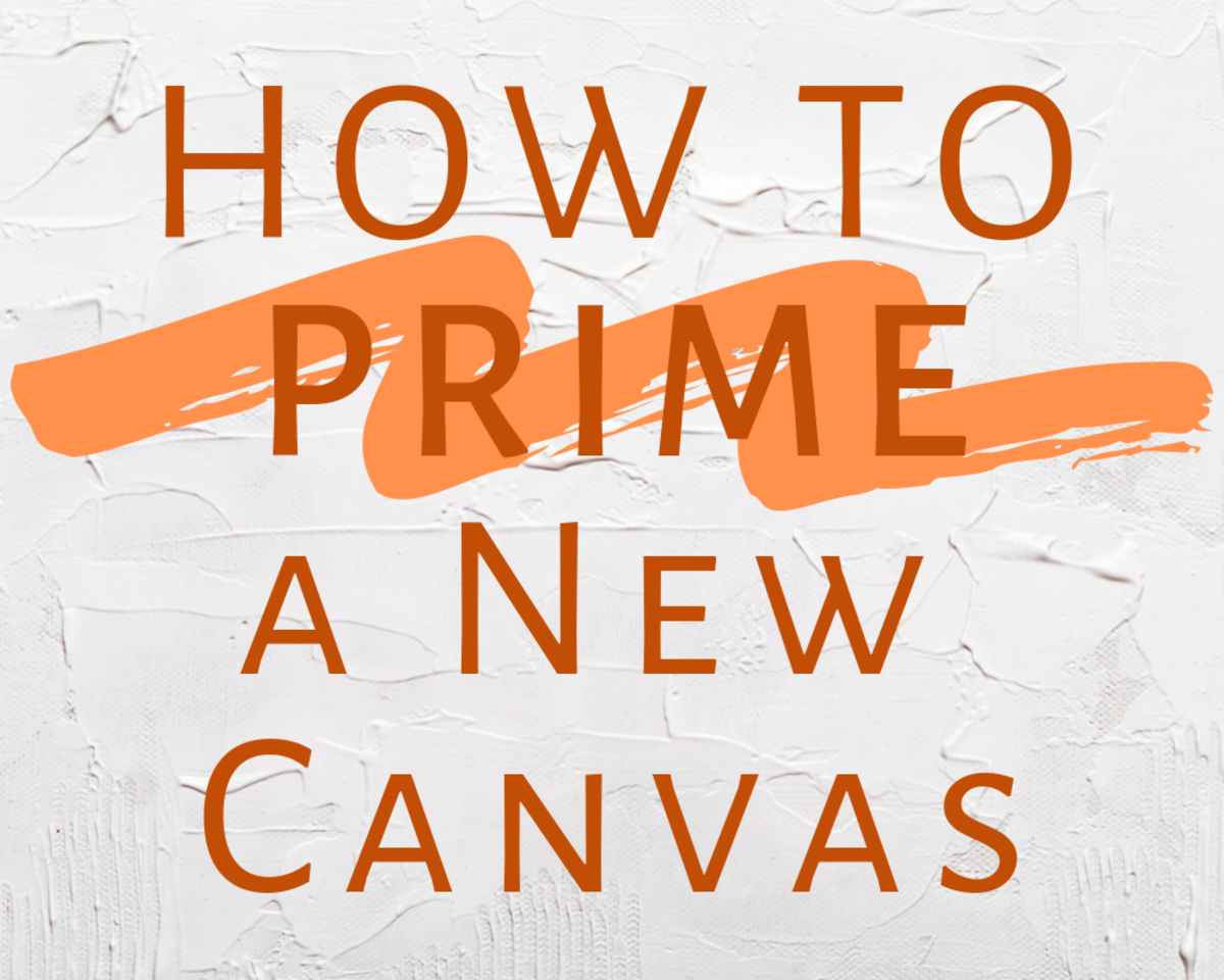 Before you can paint on canvas, the fabric should be primed. Here are step-by-step instructions for how to prep a canvas for acrylic or oil painting.