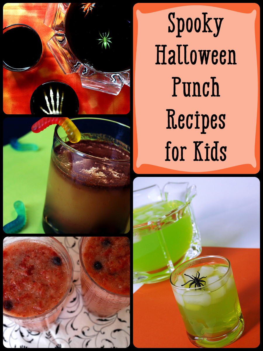 Spooky Halloween punch recipes for kids.