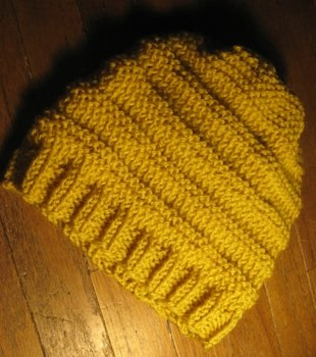 Knitting Beanie Pattern For Beginners : How to Easy Beginners Knit and Purl Hat Knitting Pattern