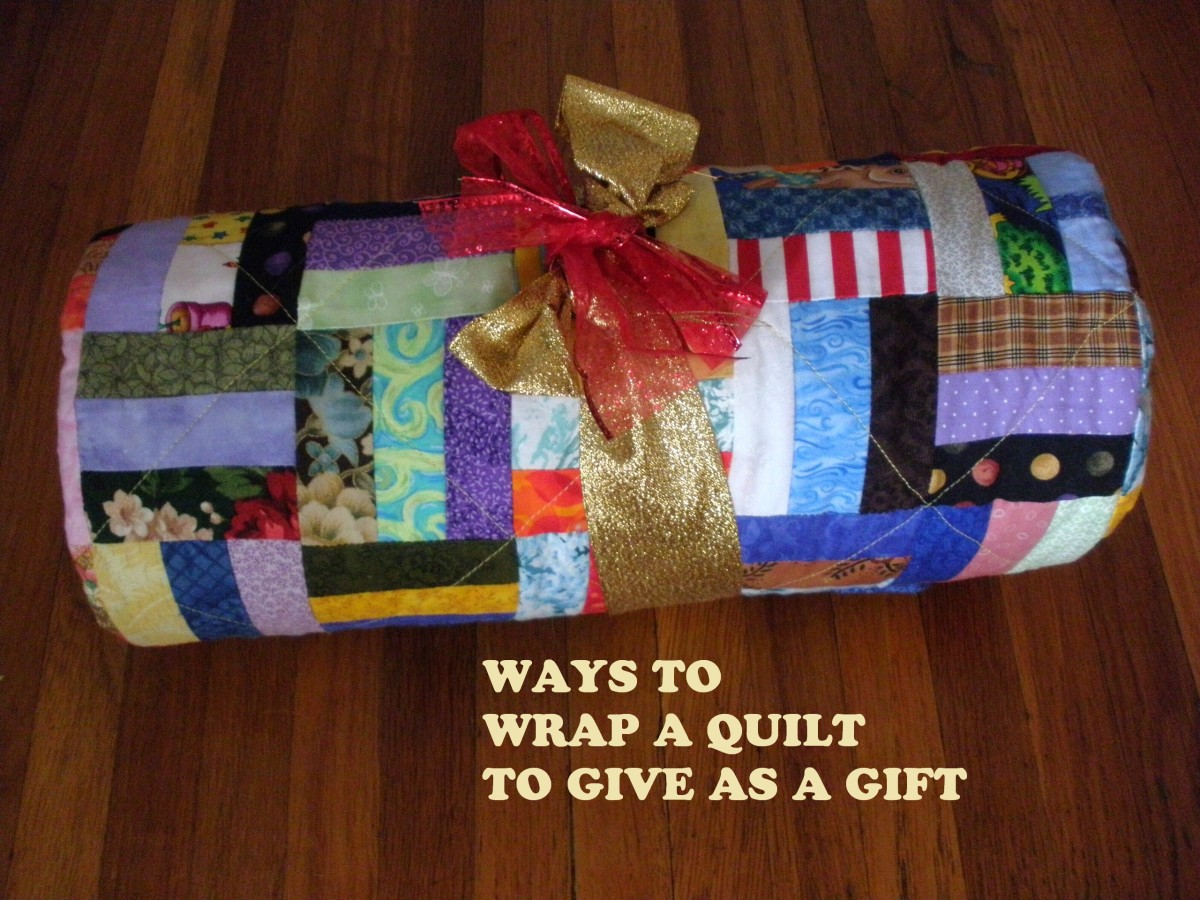 Lots of different ways to wrap a quilt to give as a gift