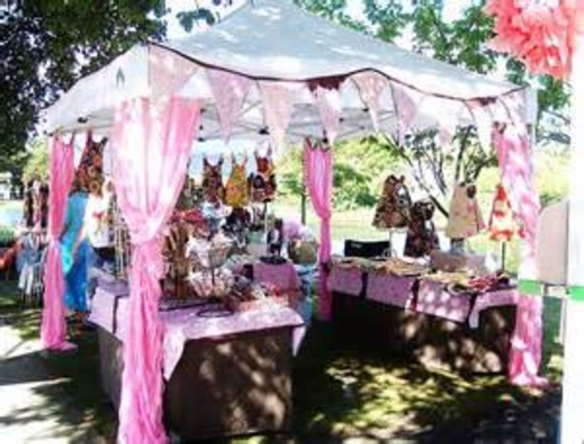 How to sell handmade jewelry at craft shows and festivals for Display tents for craft fairs