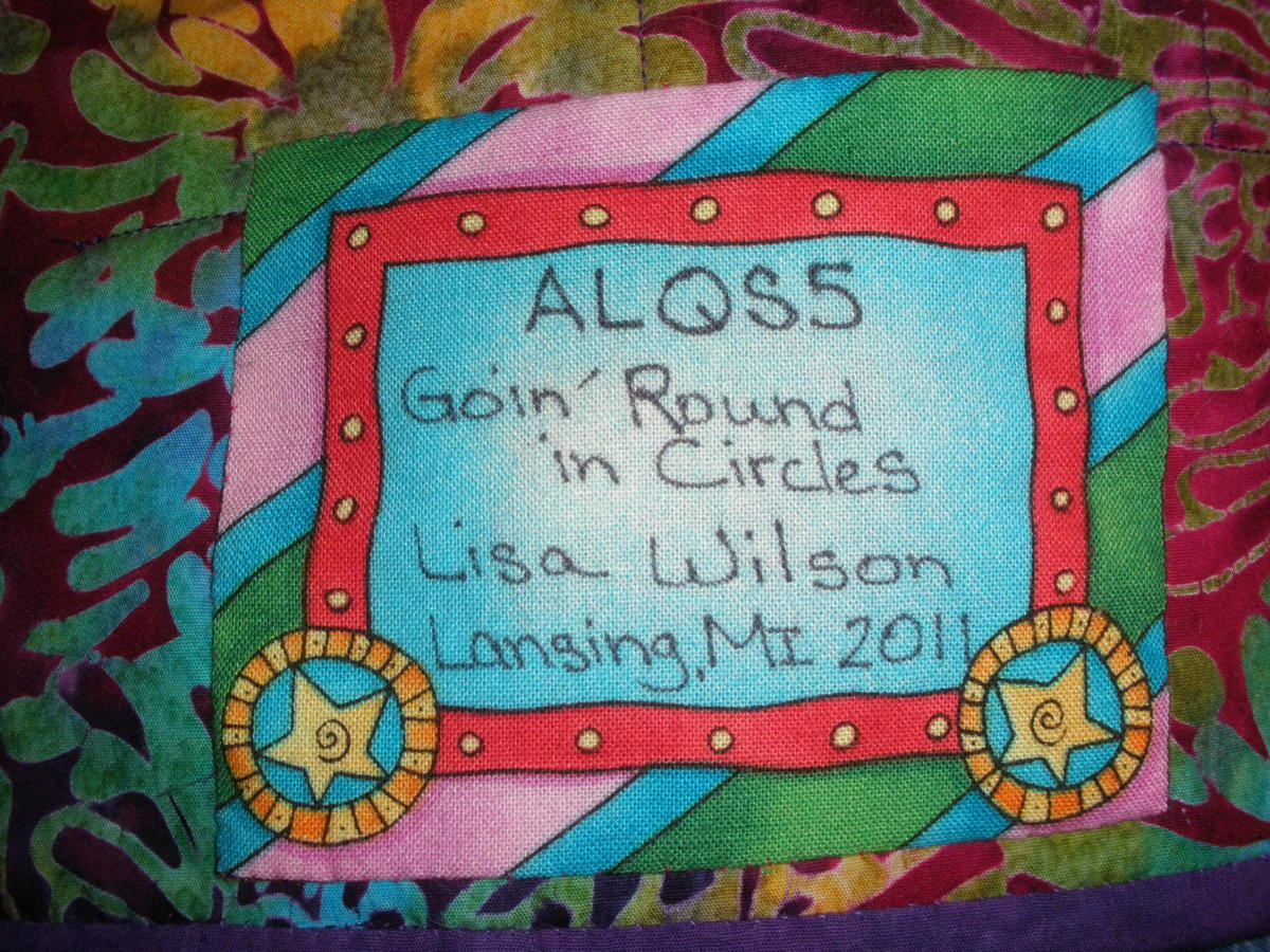 Labeling your quilts is important documentation.