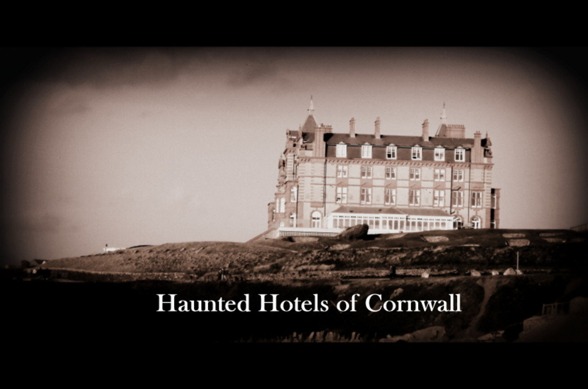 Five Haunted Hotels in Cornwall, UK