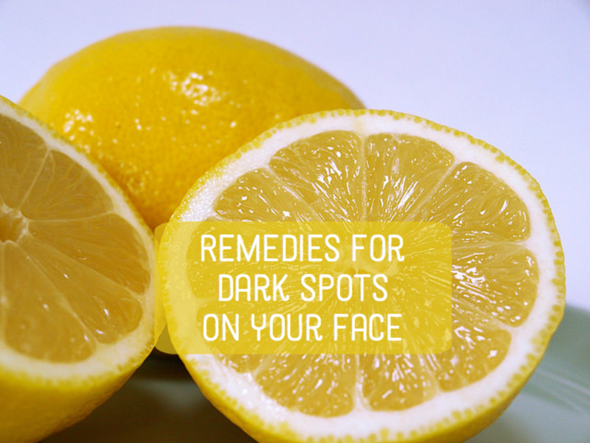 A simple lemon juice mask (with or without honey) can help with dark spots.