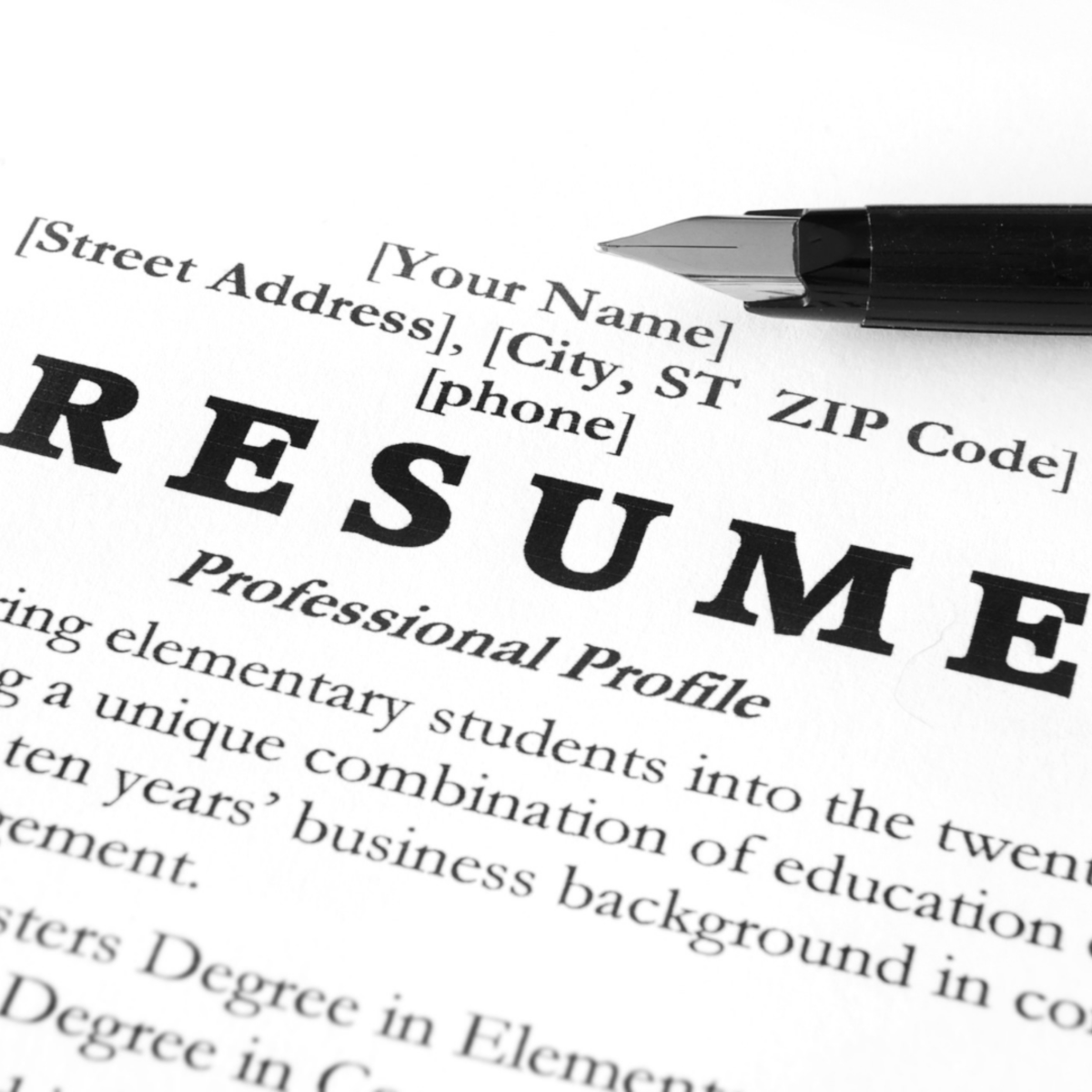 A well-crafted resume is key.