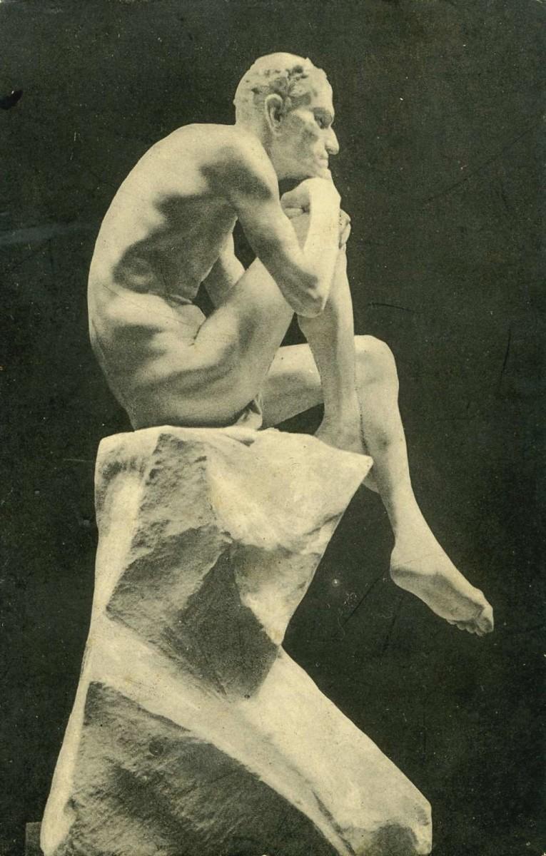 The crafty demon: A statue by Mark Matveevich Antokolsky in the Hermitage Museum, Saint Petersburg