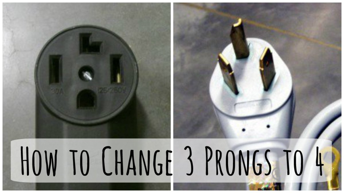 changing a 3 prong dryer plug and cord to a to 4 prong cord 4 Prong Outlet Adapter