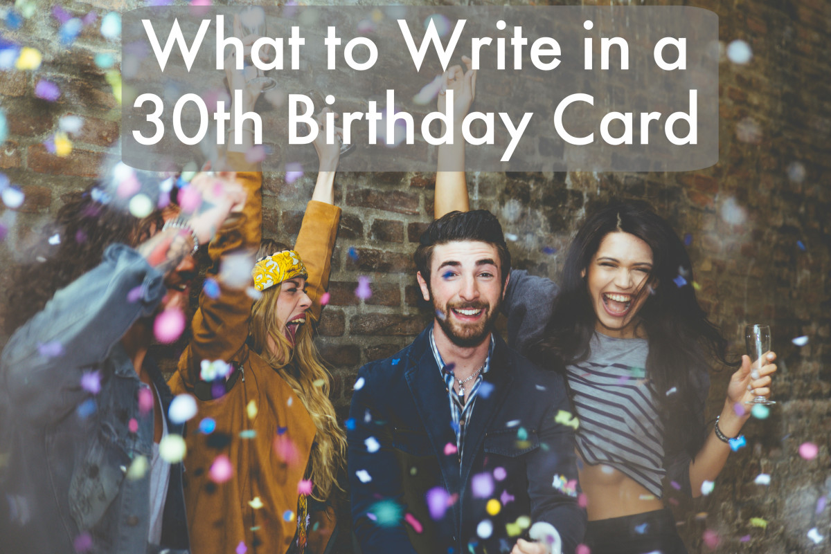 30th Birthday Wishes Quotes And Poems To Write In A Card