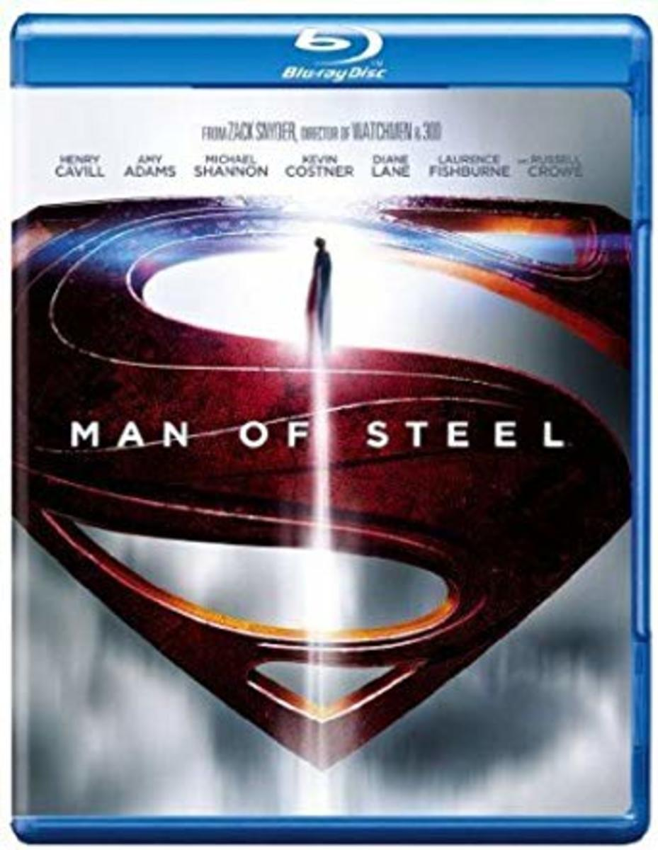 Man of Steel Blu-ray cover.