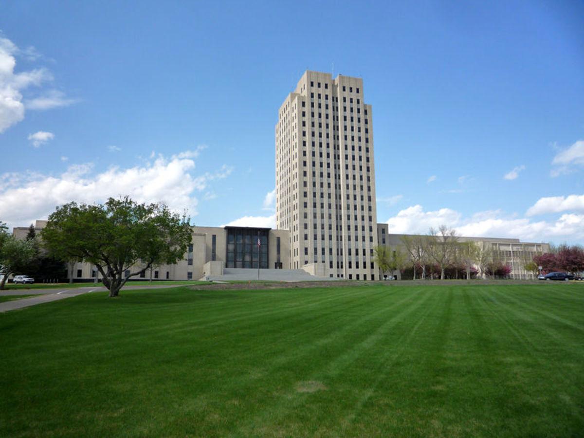 The North Dakota State Capitol Building, aka, the Skyscraper on the Prairie