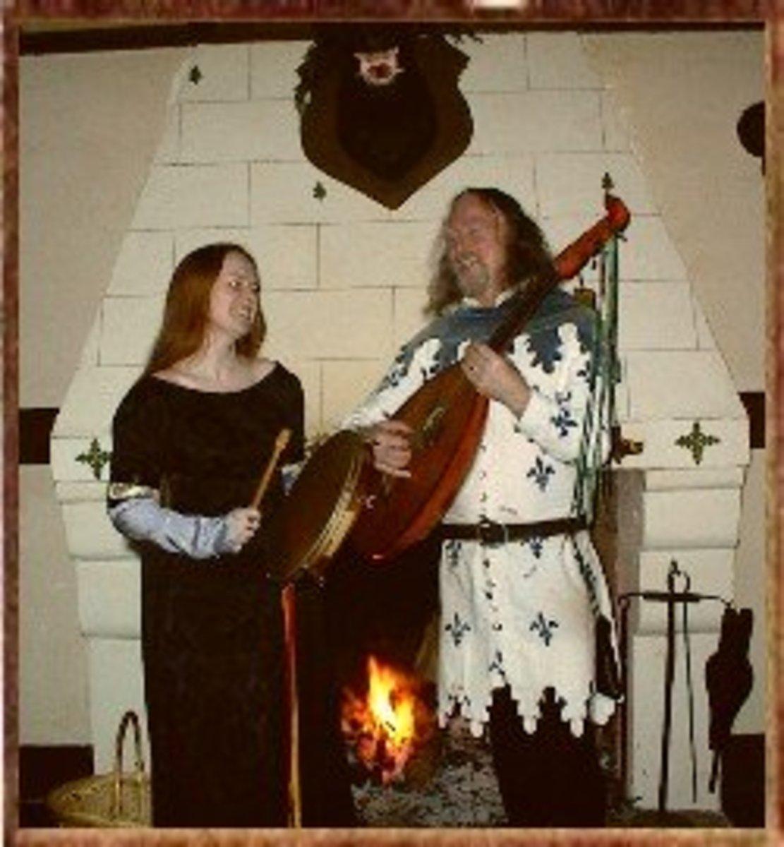 Musicians in medieval attire.