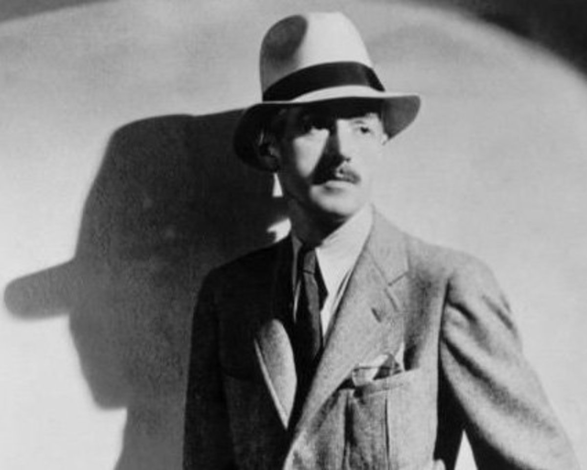 Photo portrait of American author Dashiell Hammett used for the first-edition dust jacket of his fifth and final novel, The Thin Man.