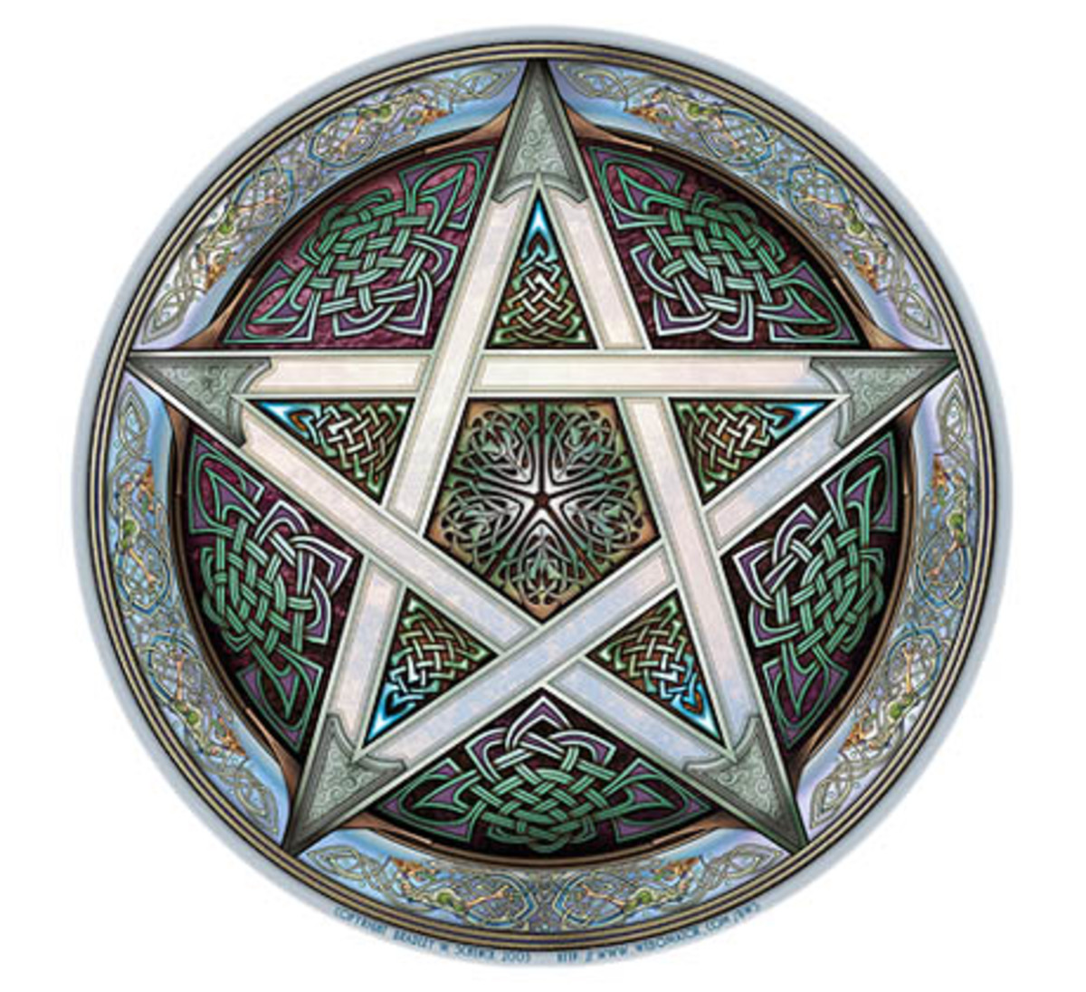 The Pentagle is also known as an endless knot and symbol of faithfulness.