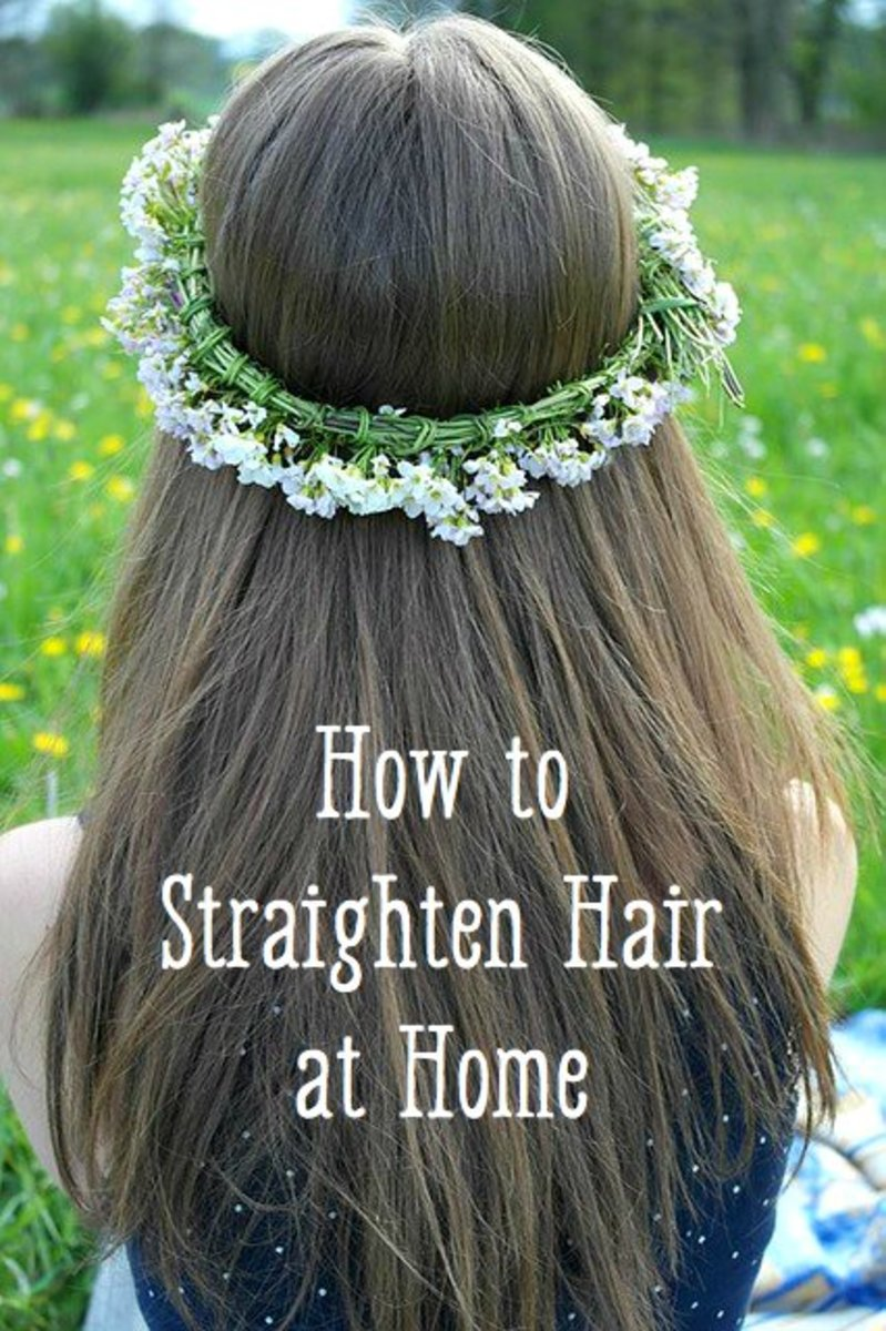How to Chemically Straighten Hair at Home