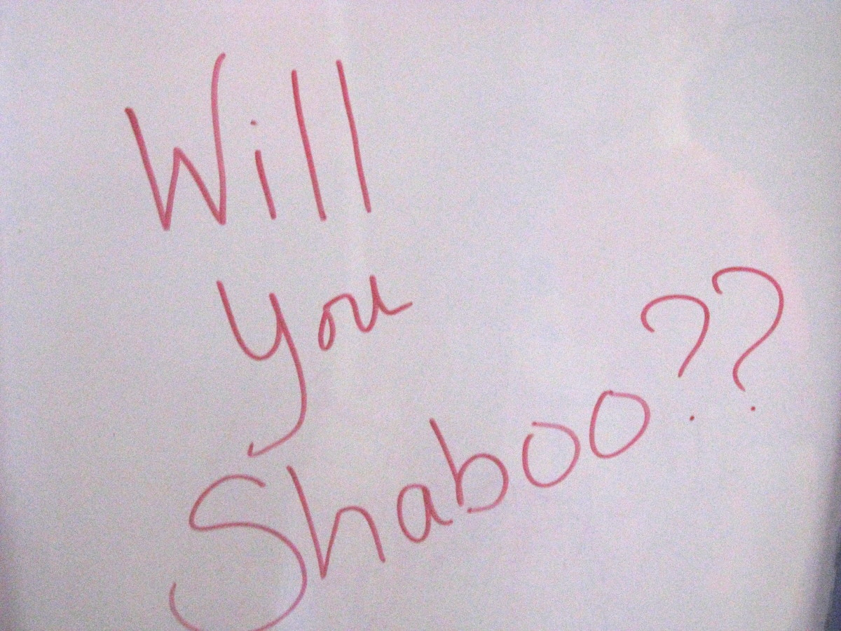 This would be written on my board at the beginning of class.