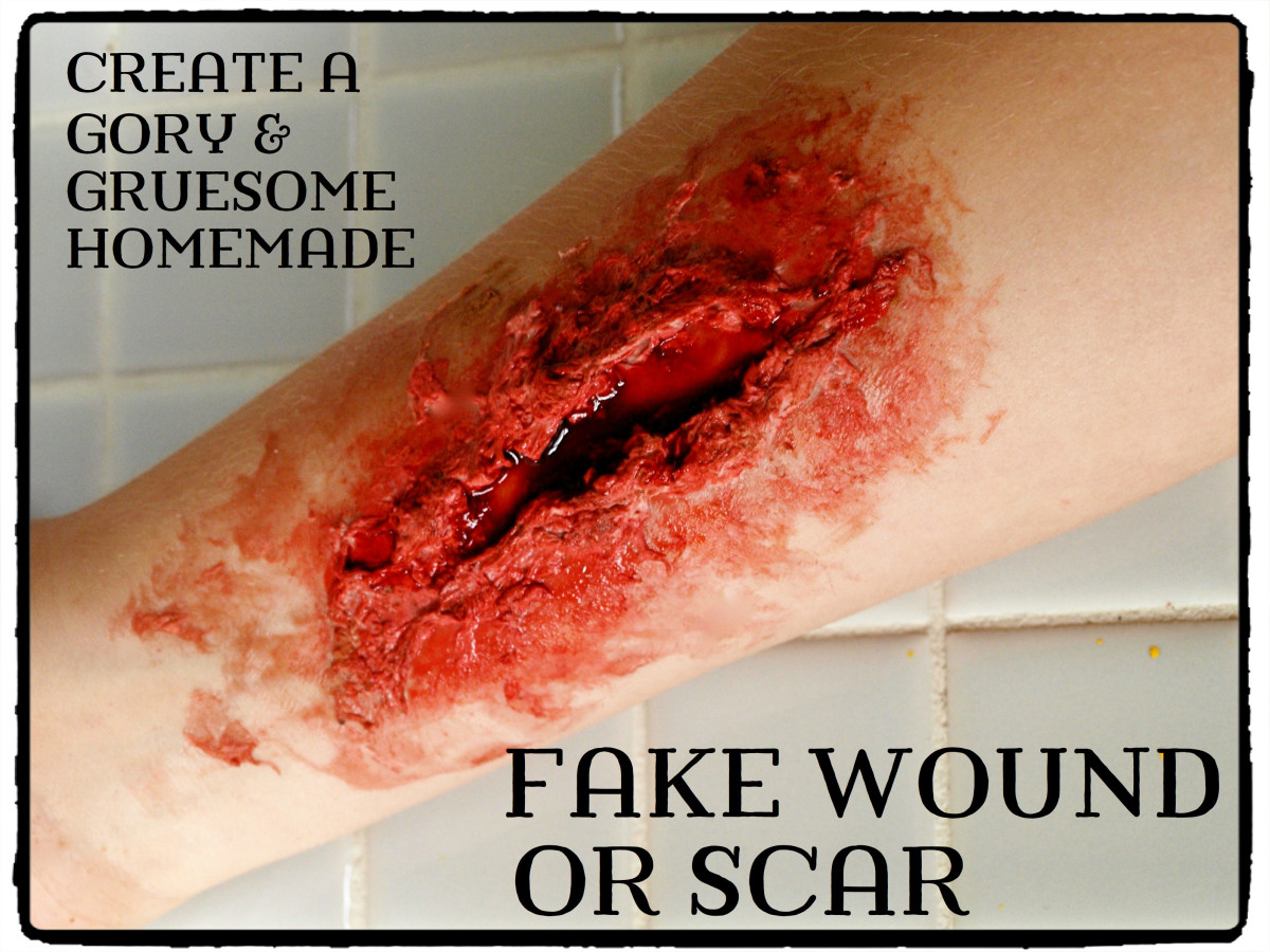 How to Make a Gory Fake Wound or Scar With Glue and Cocoa