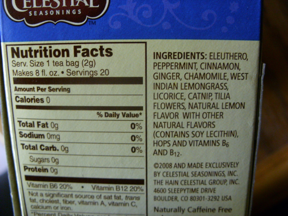 Tension Tamer Ingredients