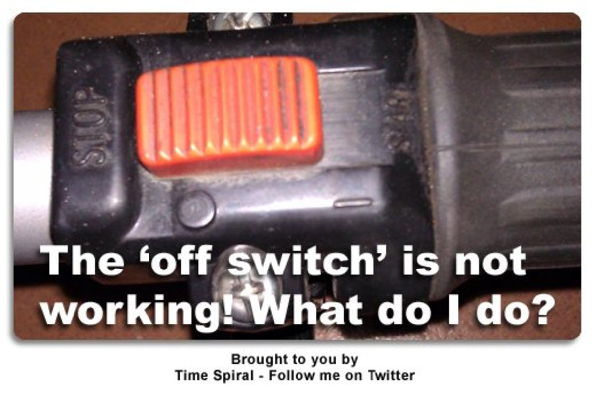 "How To turn off Edger if ""off switch"" (kill switch) does not work! Example: Redmax Edger (pole style / stick edger)"