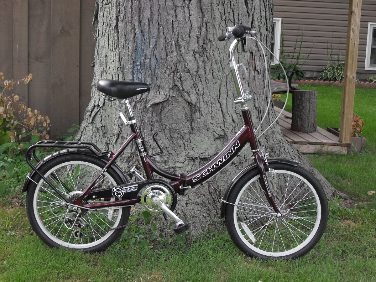 The Schwinn Tango folding bike.