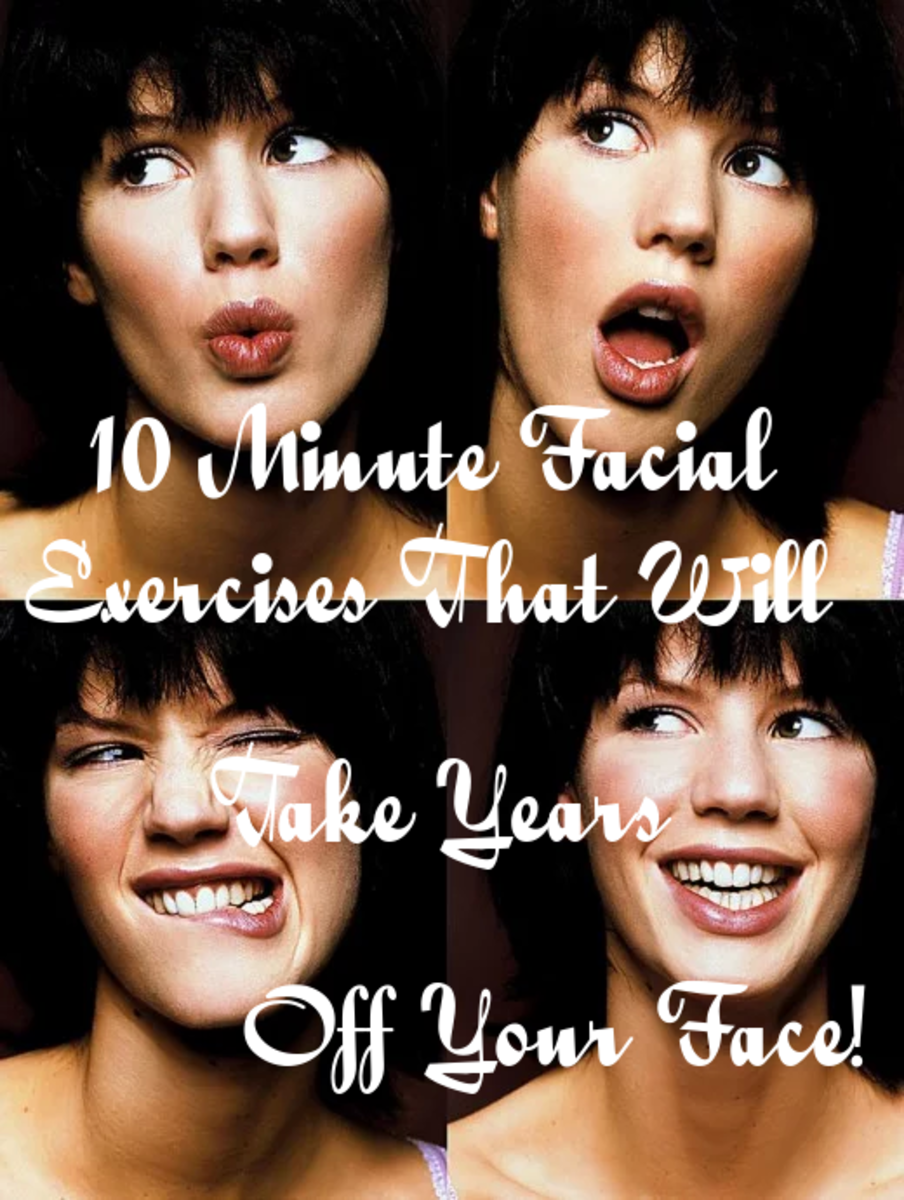 Use facial expression exercises to keep your skin looking young.