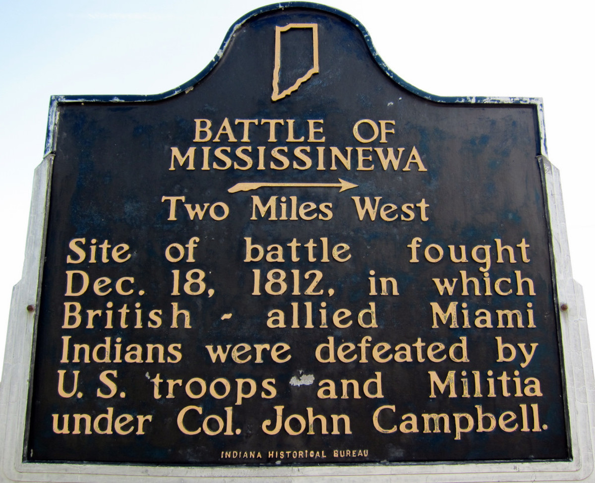 Historical Marker near the battle site.