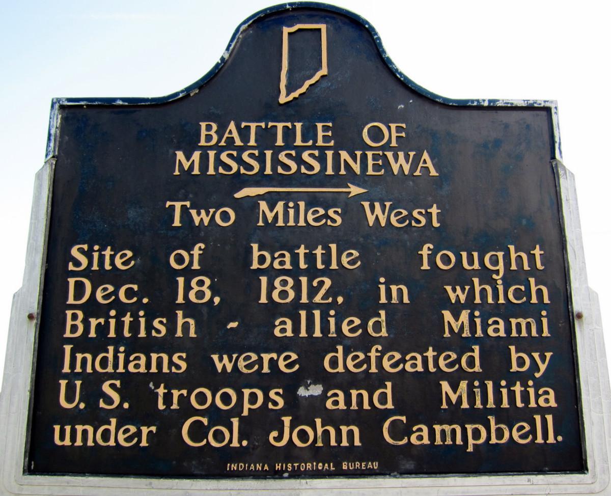 Historical Marker near the battle site.