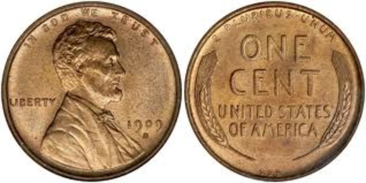 """The 1909 S VDB can be worth thousands in high grade. The """"VDB: initials are located on the back of the coin, centered on the bottom. It was later removed due to the fact that citizens felt it was disrespectful."""