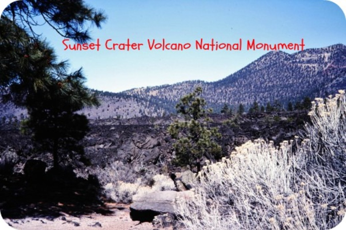 Sunset Crater Volcano ~ Pictures of Old Volcanic Eruption in Az